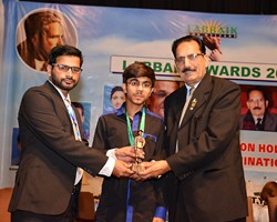 Prof. Dr. Ehsan Malik presented Gold Medal & Award to Fahad Nadeem 2nd Overall Multan (2017)